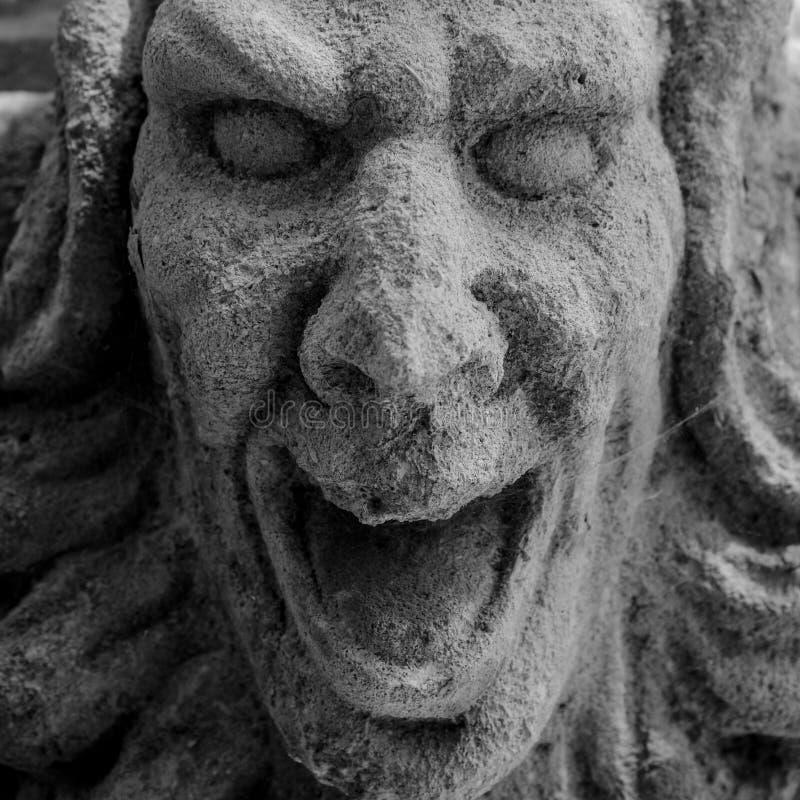 Kamienny twarz wrzask zdjęcie stock