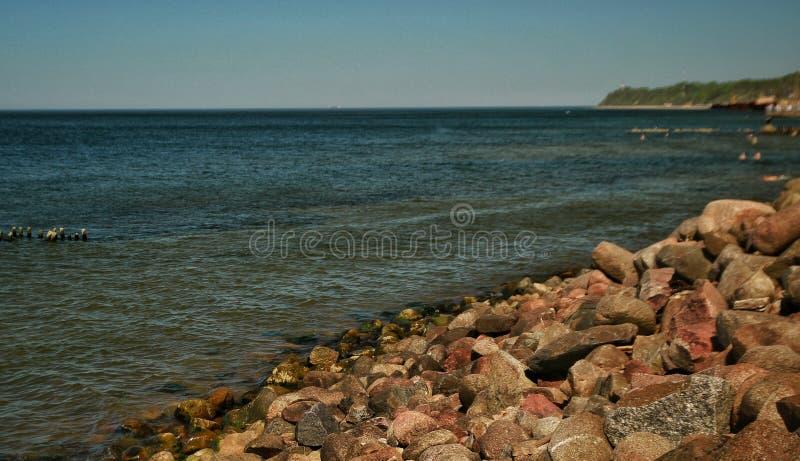 Kamienny wybrzeże Bałtycki zdjęcia royalty free