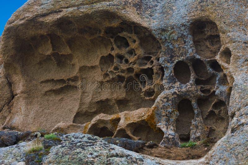 Kamienny wzór barguzin krajobrazowa Russia lato dolina zdjęcia royalty free