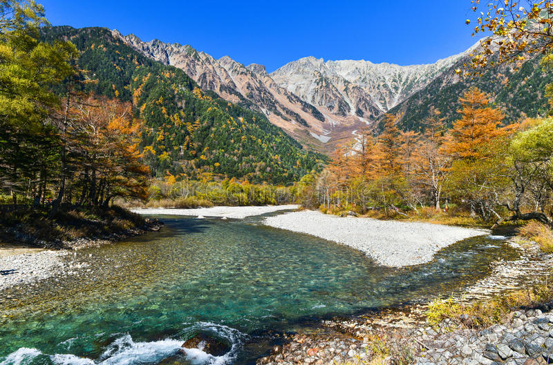 Kamikochi in the autumn royalty free stock photography