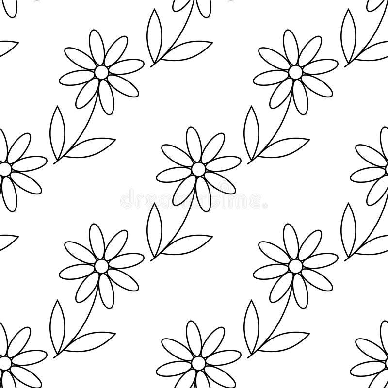 Kamillenikone G?nsebl?mchenkamille Nette Blumenanlage Liebeskartensymbol Wachsendes Konzept Zeile Auslegung Wei?er Hintergrund Ge lizenzfreie abbildung