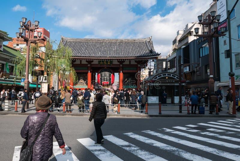Kaminarimon (Thunder) Gate of Sensoji Temple, Tokyo stock photos