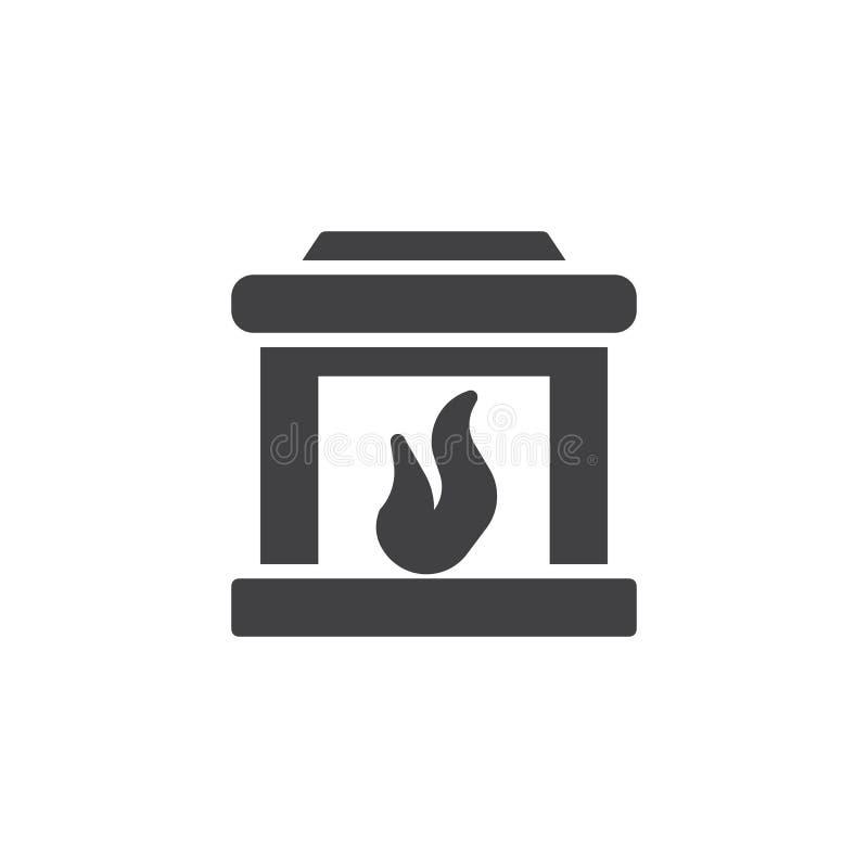 Kaminikonenvektor lizenzfreie abbildung