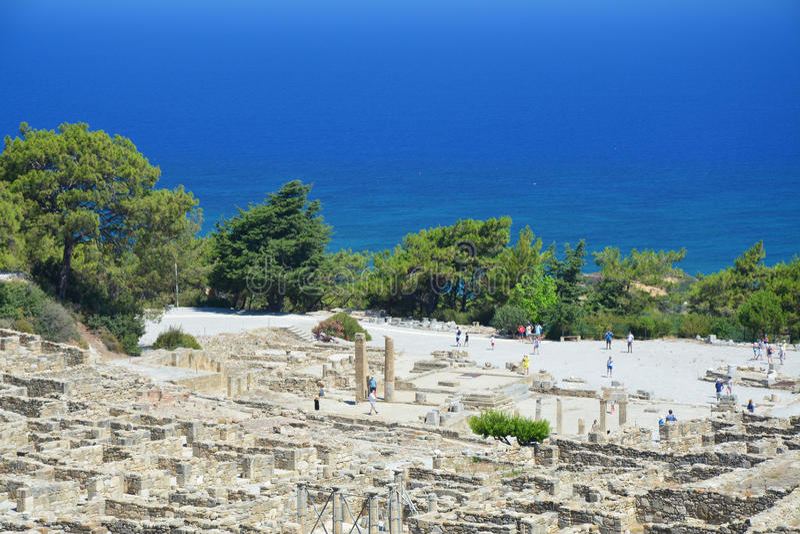 Kamiros - αρχαία πόλη στη Ρόδο στοκ εικόνα με δικαίωμα ελεύθερης χρήσης
