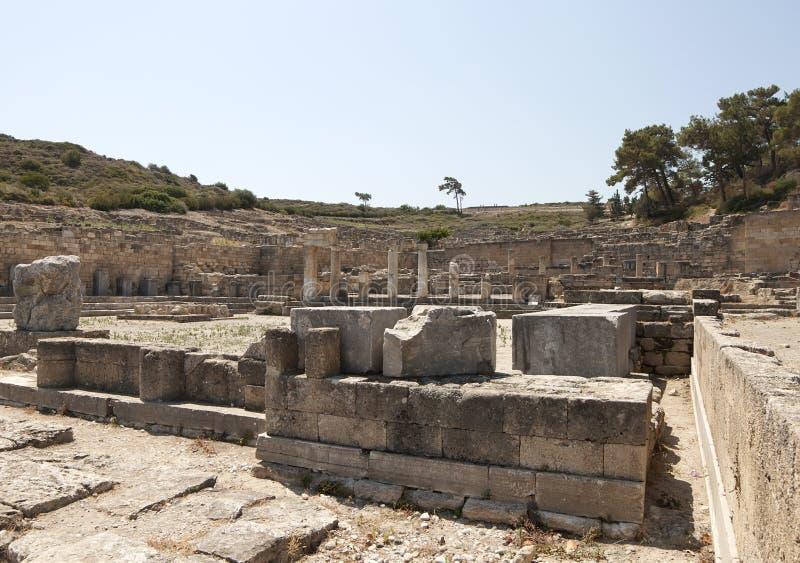 Kamiros antique en Rhodes images libres de droits