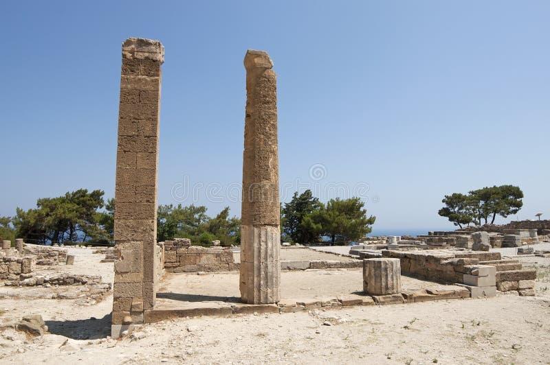 Kamiros antique en Rhodes photos stock