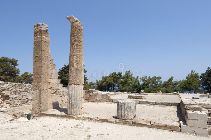 Kamiros antique en Rhodes photo libre de droits