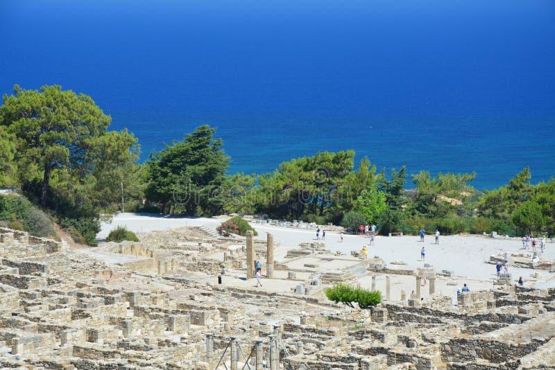 Kamiros - ciudad antigua en Rodas imagen de archivo libre de regalías