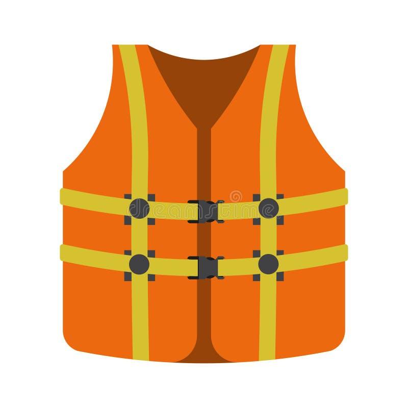 Kamizelka ratunkowa, żel przemysłowy, bezpieczeństwo wody, płaski styl ilustracji