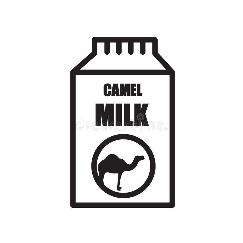 kamlet mjölkar symbolen som isoleras på vit bakgrund vektor illustrationer