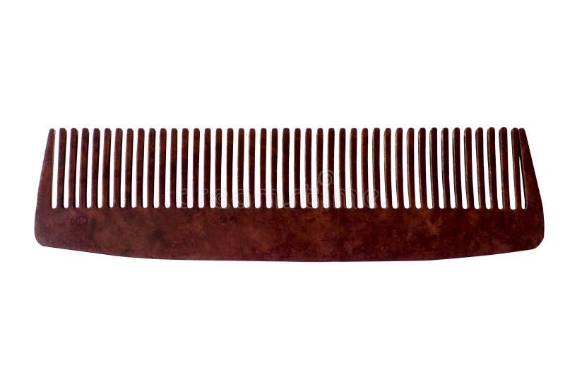 Kamm des Haares, lokalisiert auf weißem Hintergrund stockfoto