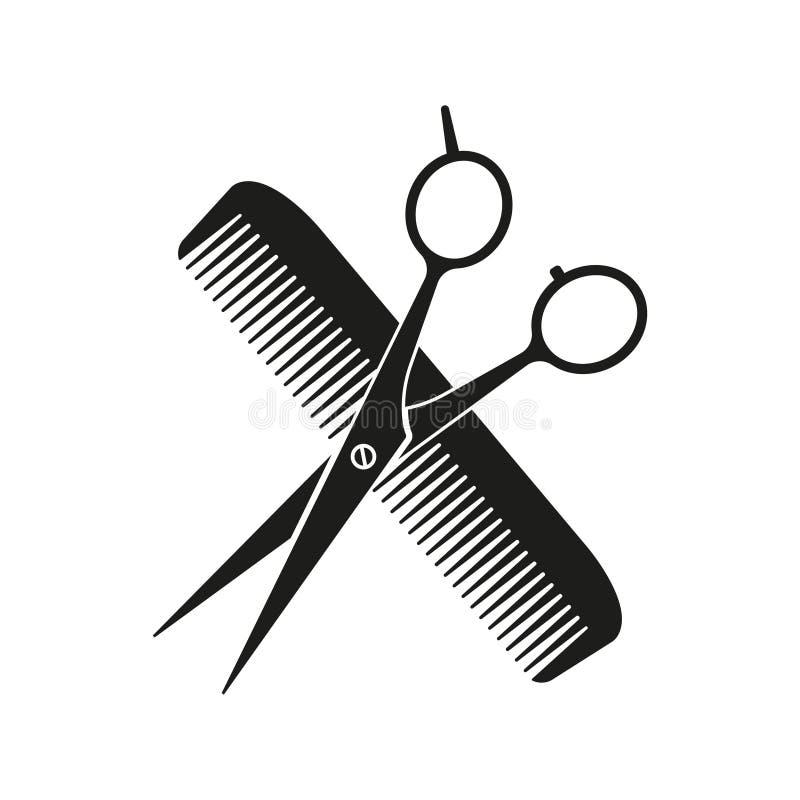 Kamm und Schere gekreuzt Vector-Illustration isoliert vektor abbildung