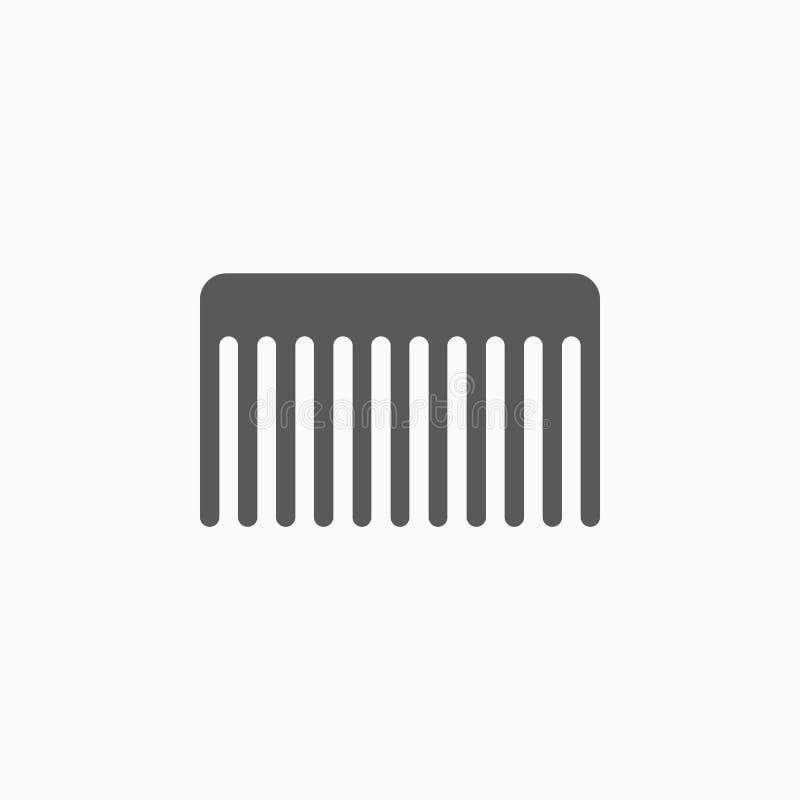 Kamma symbolen, hårborstevektorn, hår, salong royaltyfri illustrationer