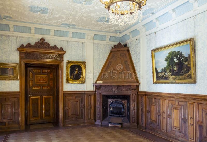 Kammare av den Massandra slotten, Krim royaltyfri bild