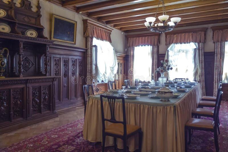 Kammare av den Massandra slotten, Krim royaltyfri foto
