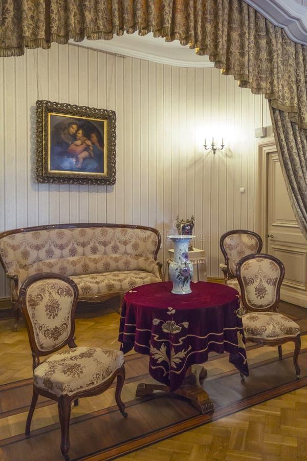 Kammare av den Massandra slotten, Krim royaltyfria foton