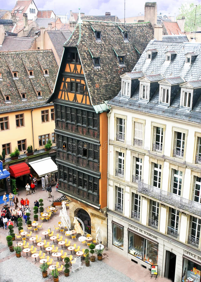Kammerzel Old House, Strasbourg stock photography