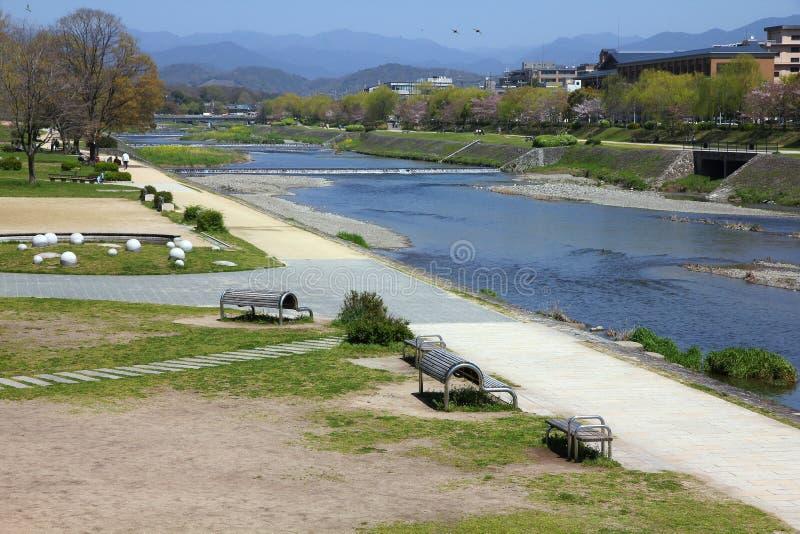 Kamo-gawa, Kyoto foto de archivo libre de regalías