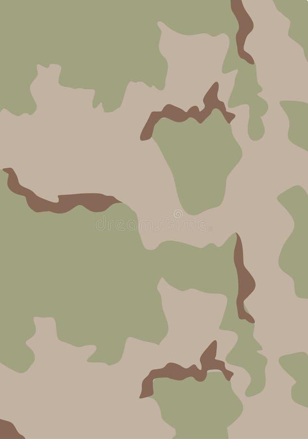 kamouflageöken USA stock illustrationer
