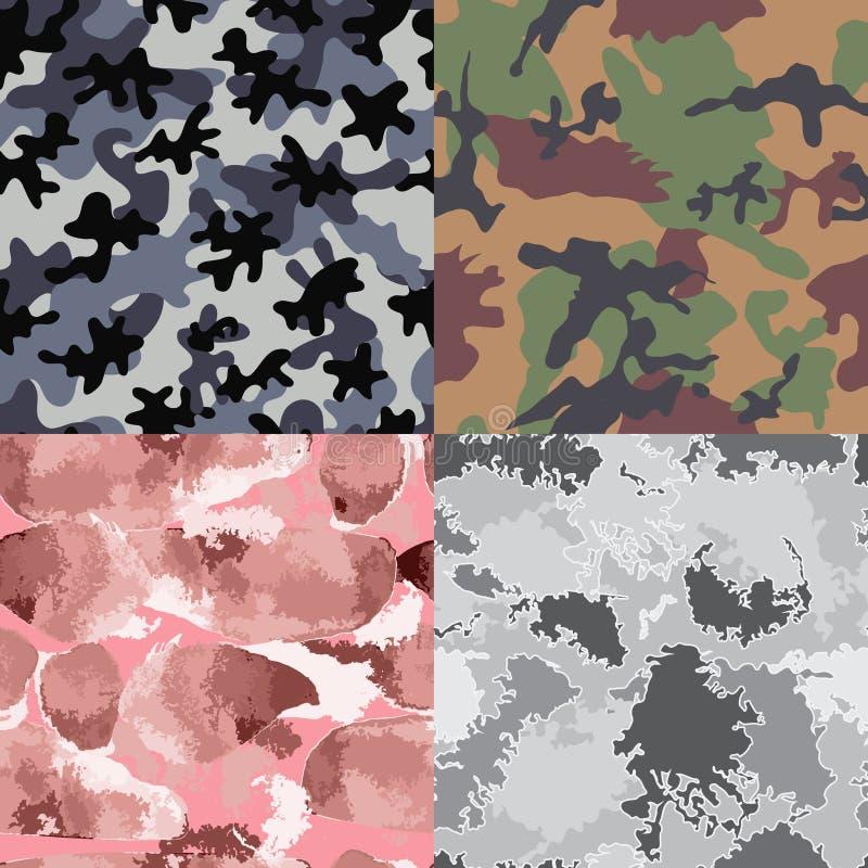 kamouflage mönsan seamless vektor illustrationer