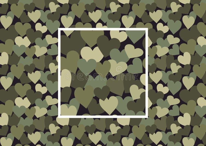 kamouflagehjärta royaltyfri bild