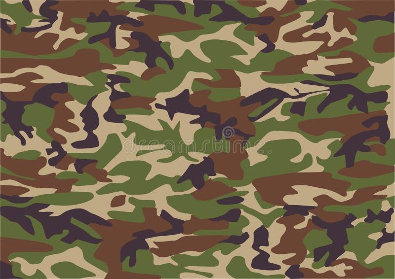 kamouflagemodell stock illustrationer