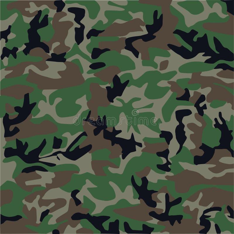 kamouflagemodell royaltyfri illustrationer
