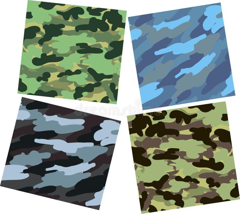 kamouflagemodeller vektor illustrationer