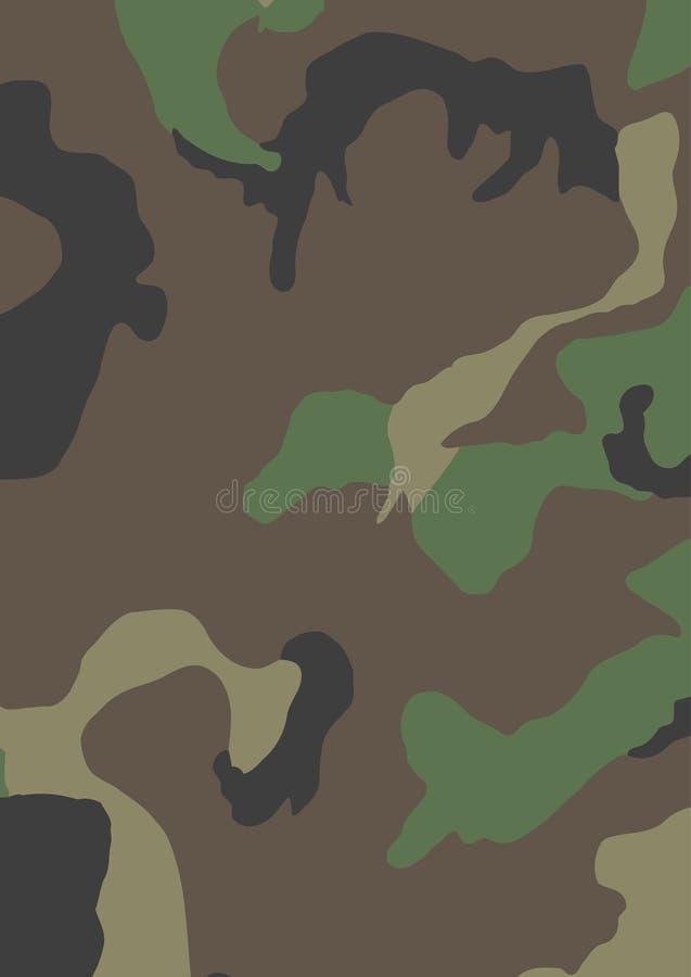 kamouflageUSA-skogsmark stock illustrationer
