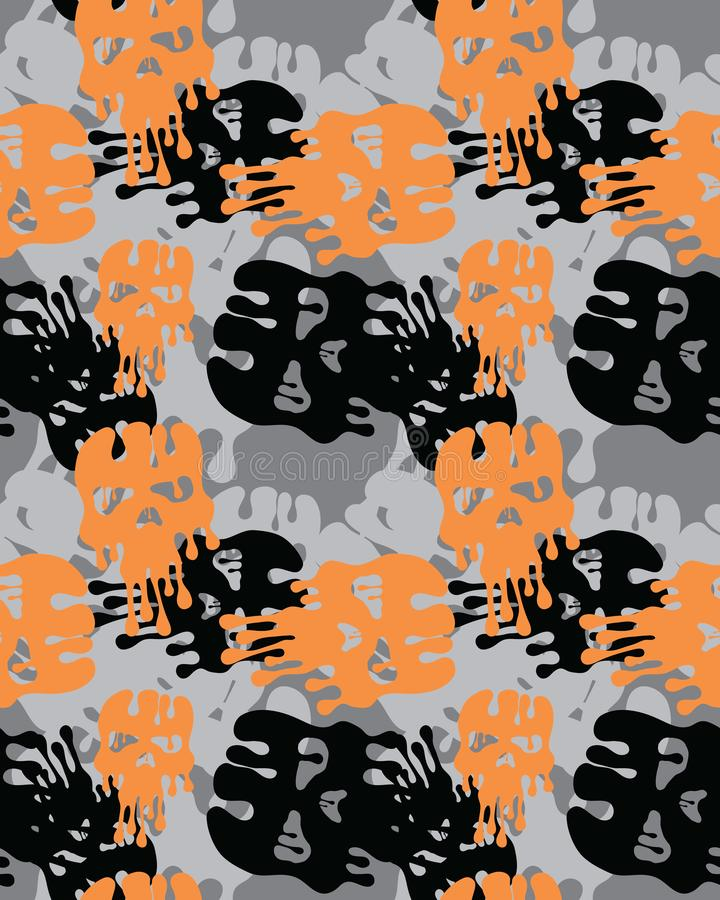 kamouflera modellen Sömlös arméwallpaperCamouflagemodell Sömlös armétapet Militär design Abstrakt camodesign royaltyfri illustrationer