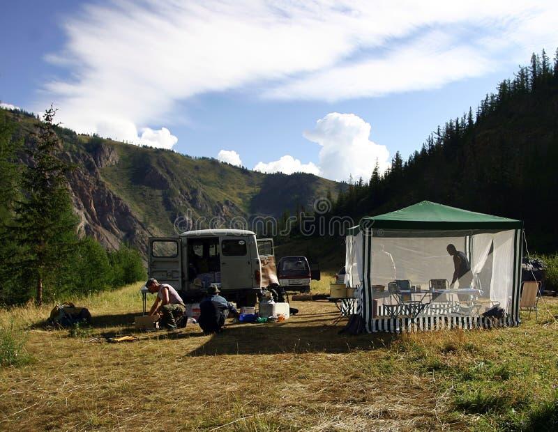Kamp royalty-vrije stock foto