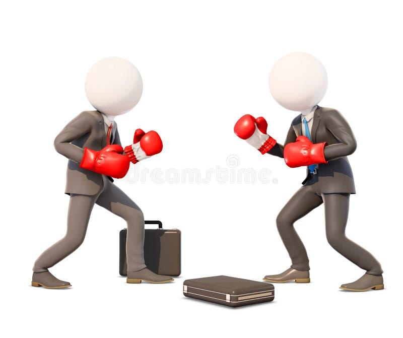 Kamp mellan affärsmän stock illustrationer