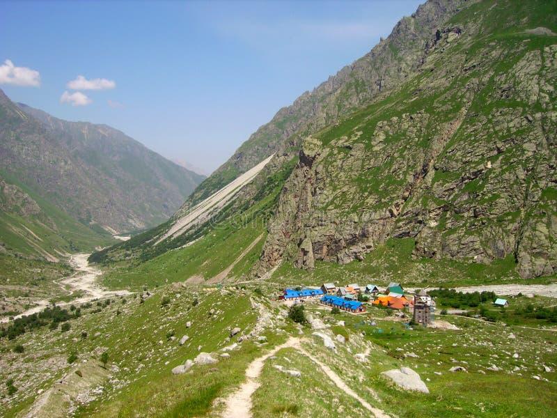 Kamp van rots-klimmers stock foto