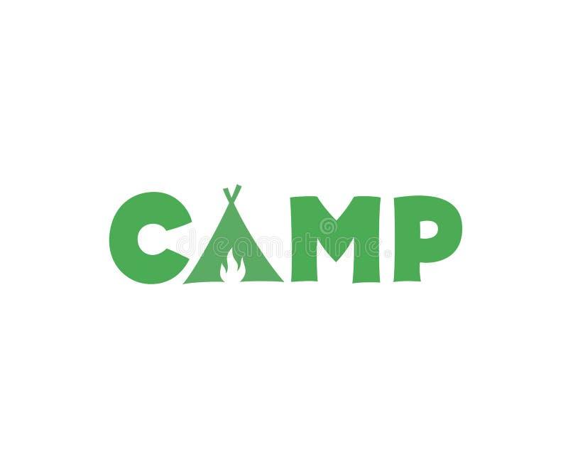 Kamp vectorteken vector illustratie