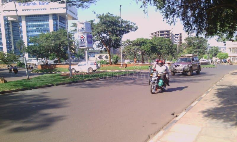 Kampala die Stadt zur Perle von Afrika stockbild