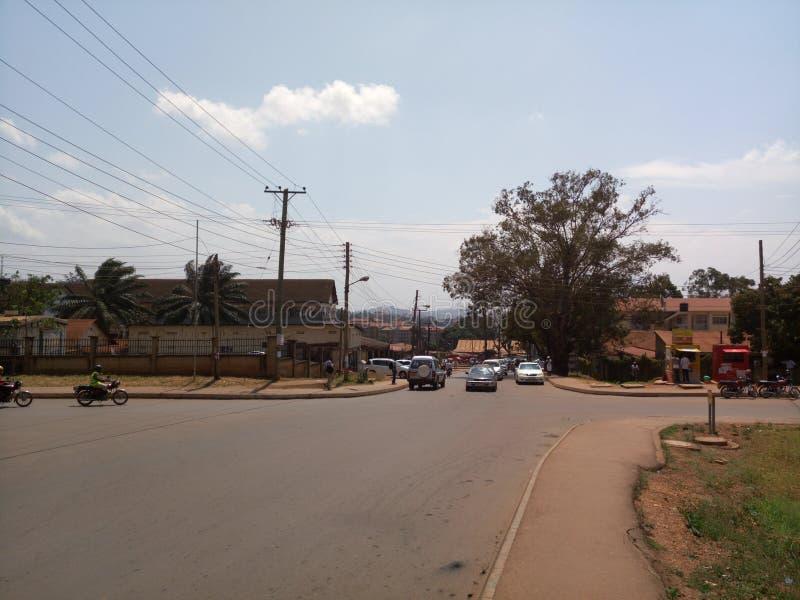 Kampala gator arkivbilder