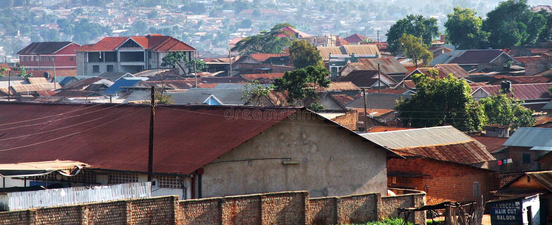 Kampala Uganda Homes fotografia de stock