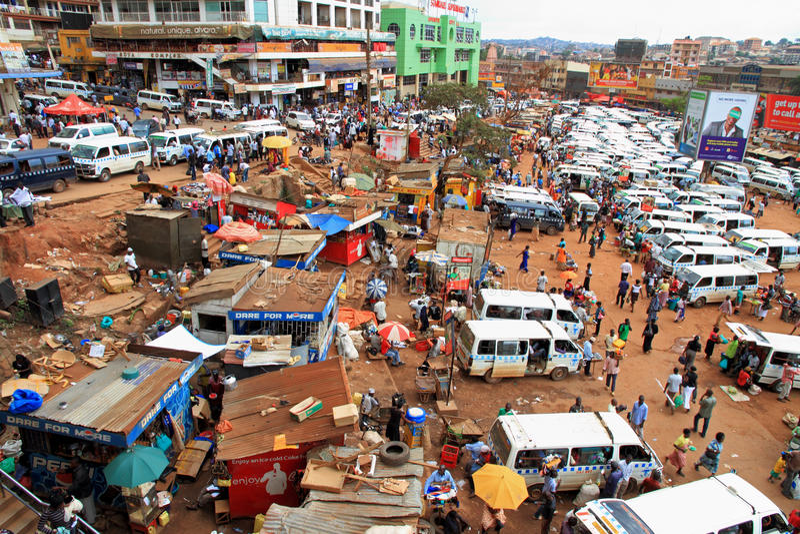 Kampala Uganda occupato immagini stock