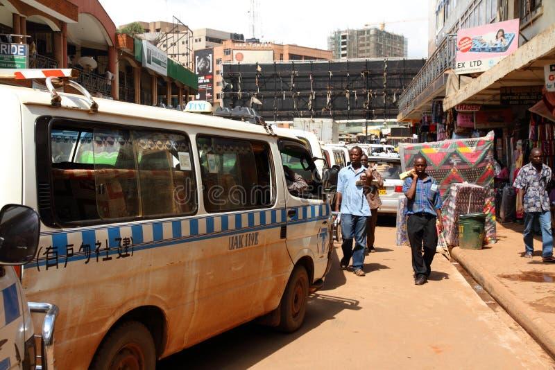 Kampala ulic taxi uszeregowanie obraz stock