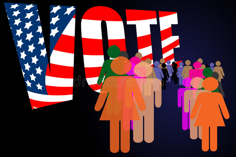 kampania dzień wyborów głosowanie royalty ilustracja