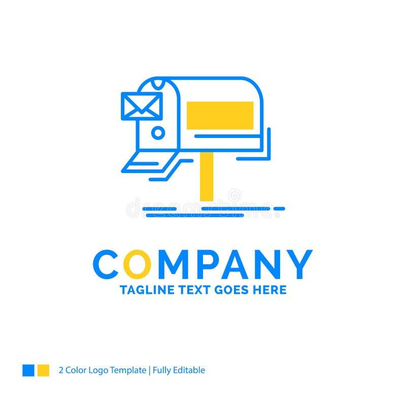 kampanie, email, marketing, gazetka, poczta Błękitny Żółty Busine ilustracji