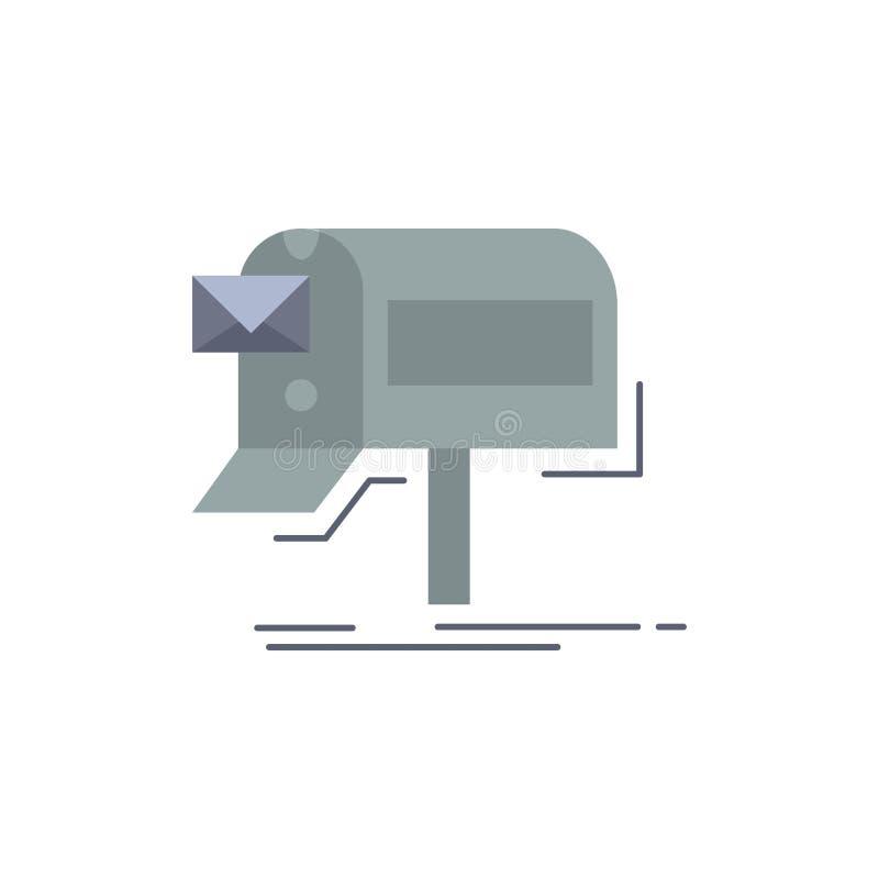 kampanie, email, marketing, gazetka, poczta koloru ikony Płaski wektor ilustracji