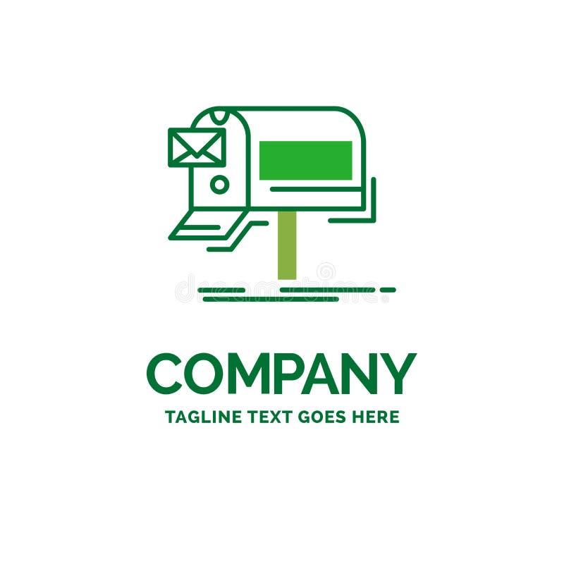 kampanie, email, marketing, gazetka, poczta Płaski Biznesowy logo ilustracja wektor