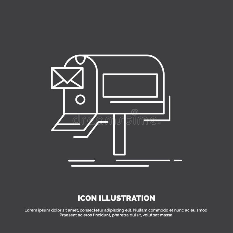 kampanie, email, marketing, gazetka, poczty ikona Kreskowy wektorowy symbol dla UI, UX, strona internetowa i wisz?cej ozdoby zast ilustracji