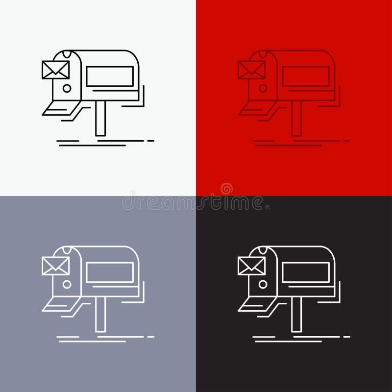 kampanie, email, marketing, gazetka, poczty ikona Nad Różnorodnym tłem Kreskowego stylu projekt, projektuj?cy dla sieci i app 10  ilustracji