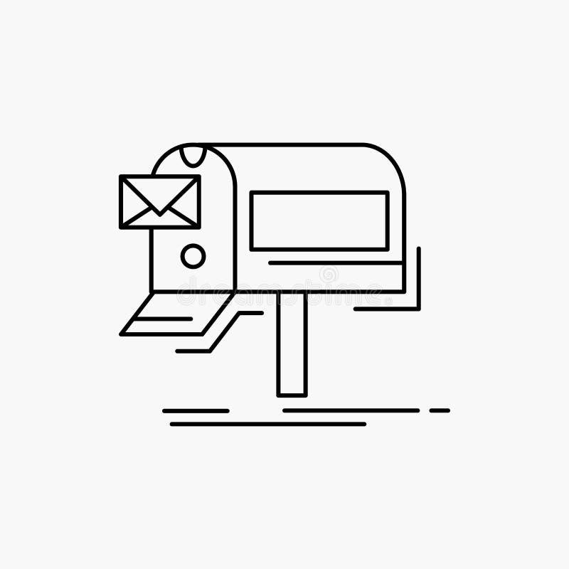 kampanie, email, marketing, gazetka, poczty Kreskowa ikona Wektor odosobniona ilustracja royalty ilustracja