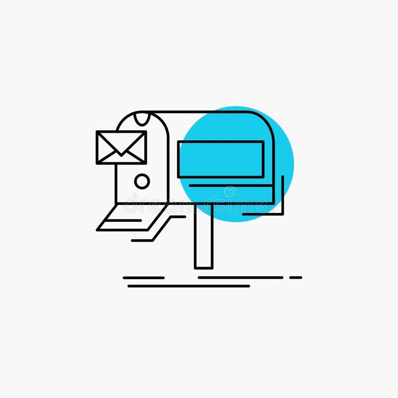 kampanie, email, marketing, gazetka, poczty Kreskowa ikona ilustracji
