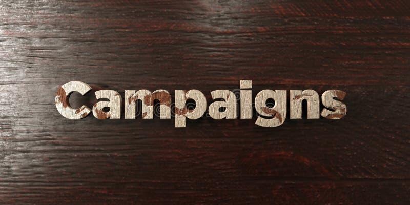 Kampanie - grungy drewniany nagłówek na klonie - 3D odpłacający się królewskość bezpłatny akcyjny wizerunek royalty ilustracja
