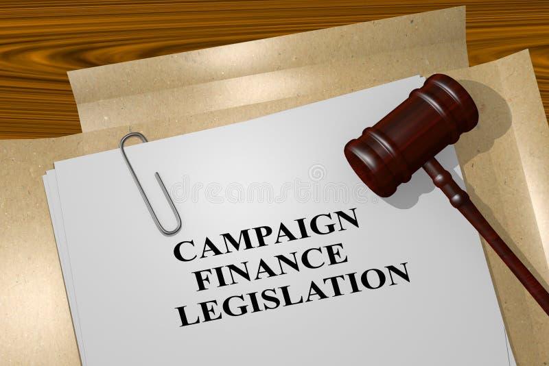 Kampanii Finansowej ustawodawstwo - legalny pojęcie ilustracji