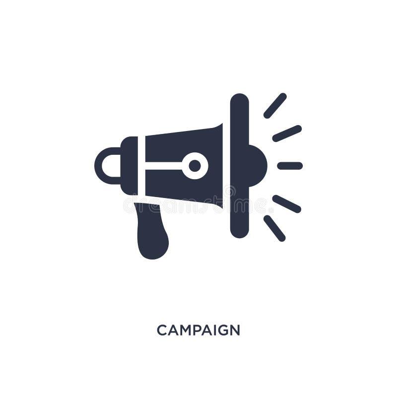 kampanii ikona na białym tle Prosta element ilustracja od Marketingowego pojęcia royalty ilustracja